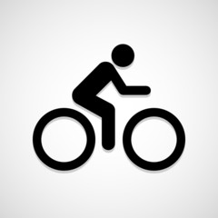 A man Bike icon great for any use. Vector EPS10.