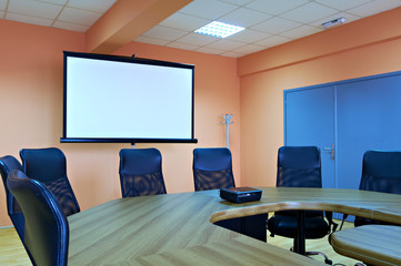Conference room  screen projector