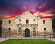 Leinwanddruck Bild - The Alamo, San Antonio, TX