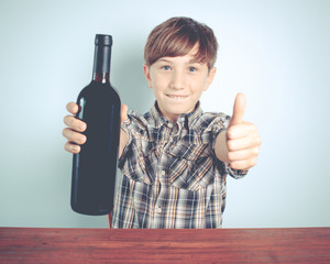 young wine supporter