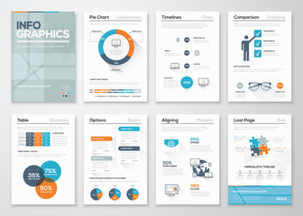 Modern infographics vector concept. Business graphics brochures.