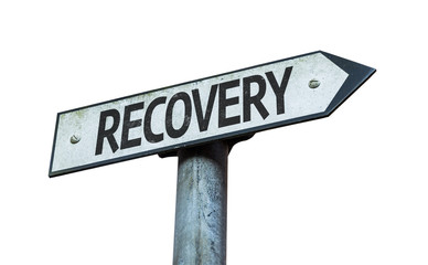 Recovery sign isolated on white background
