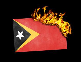 Flag burning - East Timor