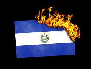 Flag burning - El Salvador