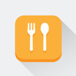 Spoon and fork icon great for any use. Vector EPS10. - 77155461