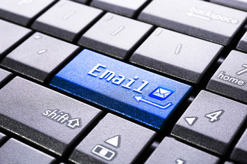 Email button on the computer keyboard