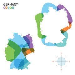 Abstract vector color map of Germany