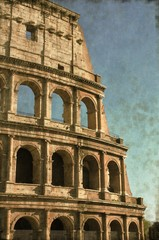 Colosseum in Rome, Italy - Vintage