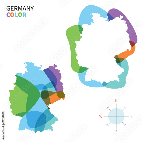 Papiers peints Forme Abstract vector color map of Germany