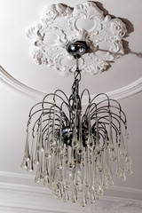 chandelier, classic, old, lighting, electricity, bulb, stucco,