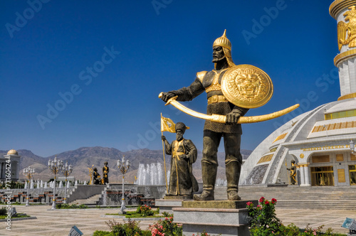 Monument of independence in Ashgabat - 77160424
