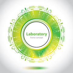 Science and Research - laboratory research - circle element