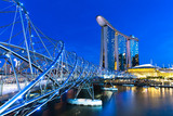 Marina Bay area at night, Singapore.