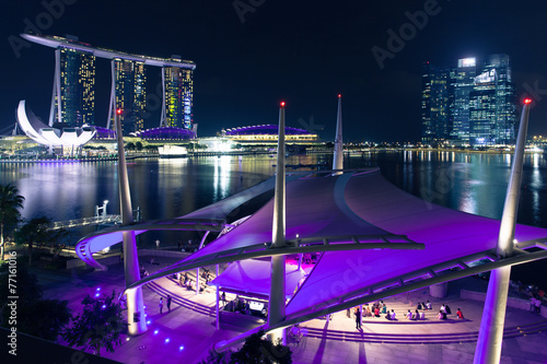 Esplanade open scene on the waterfront, Singapore