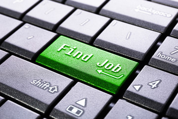 Find job button on the computer keyboard