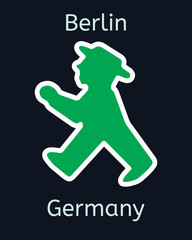 Vector ampelmann figure of traffic light in Berlin, Germany