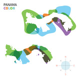 Abstract vector color map of Panama