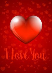 I Love You - Valentine Heart Card