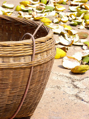 basket for orange skin