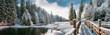 Leinwandbild Motiv Зимний лес в Карпатах