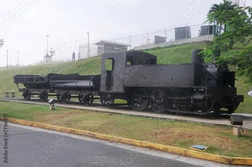 Poster Kanaal Alte Lokomotive vom Panamal Canal - Panama