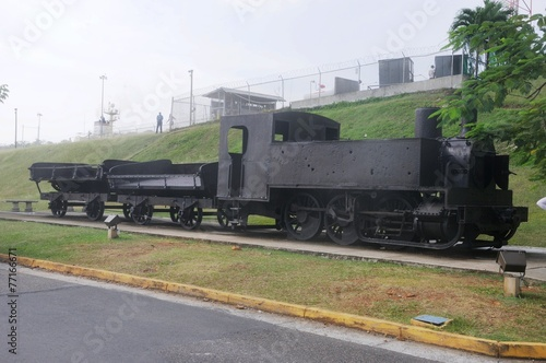 Alte Lokomotive vom Panamal Canal - Panama