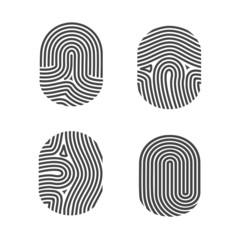 Fingerprints icon set