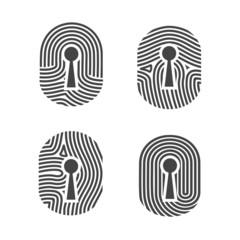 Fingerprint access control sign