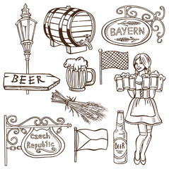 Czech beer and Bavarian drawing