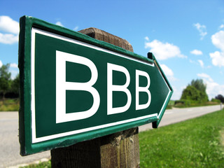BBB credit rating sign