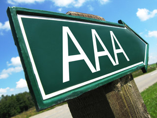AAA credit rating sign