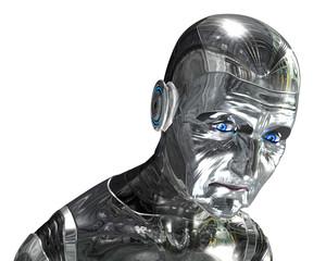 Elderly Robot Portrait - Aging Technology