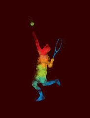 Tennis Art 1 Dark