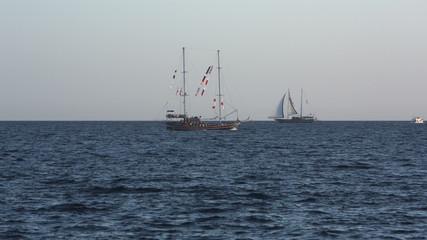 sailboat sailing on the sea
