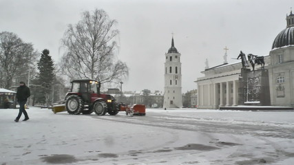 Vilnius. Cathedral Bell Tower And Cathedral Square