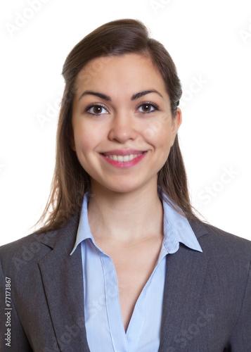 Passfoto einer Frau im grauen Blazer - 77173867