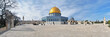 Leinwanddruck Bild - Panorama of Temple Mount with Dome of the Rock Mosque, Jerusalem