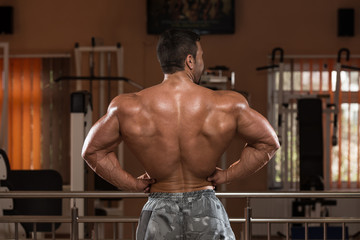 Man Showing His Well Trained Back