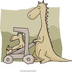 Ma and Baby Dino