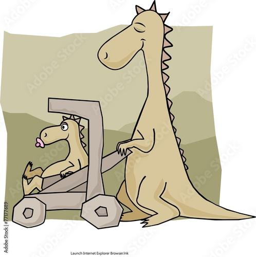 Ma and Baby Dino - 77177689