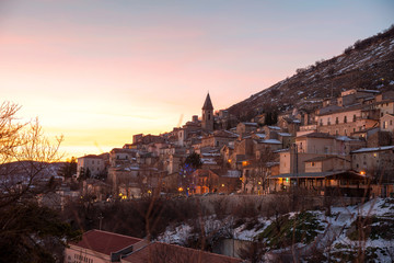 Calascio, one of the most beautiful towns in Italy, Abruzzo