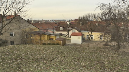 Vilnius. Roofs and yard of Old Town