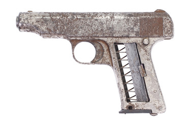 Old rusty handgun