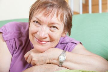 Cheerful female pensioner