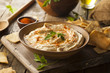 Healthy Homemade Creamy Hummus - 77182681