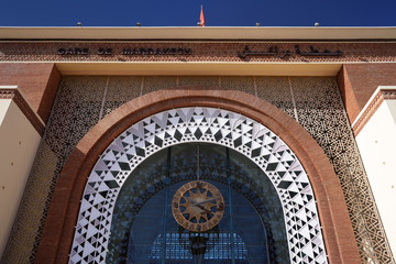 Morocco. The train station in Marrakesh
