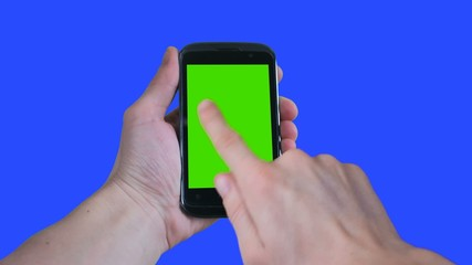 green screen touch phone