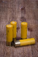 Yellow Twenty Gauge Shotgun shells