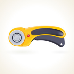 Rotary cutter for patchwork and quilting, knife for fabric