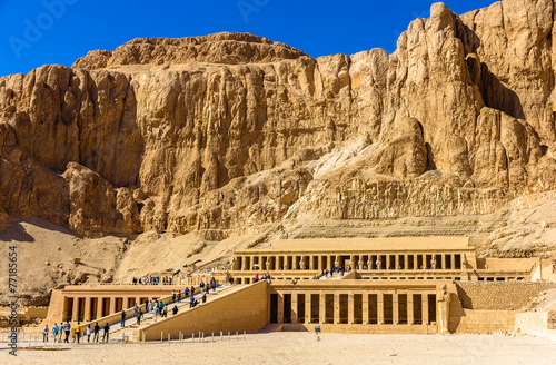 Spoed canvasdoek 2cm dik Egypte Mortuary temple of Hatshepsut in Deir el-Bahari - Egypt